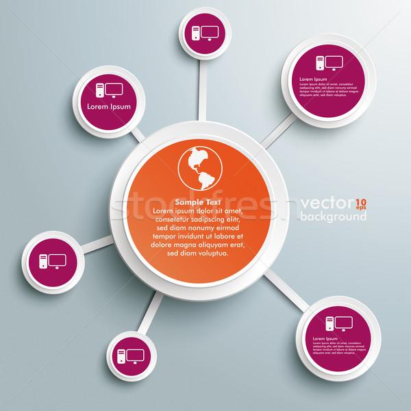 интернет сети дизайна серый прибыль на акцию Сток-фото © limbi007