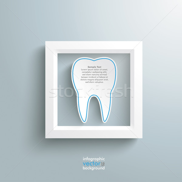 White Frame And Tooth Stock photo © limbi007