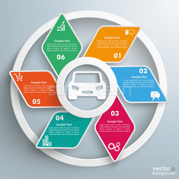 Car Rhombus Cycle Infographic Stock photo © limbi007