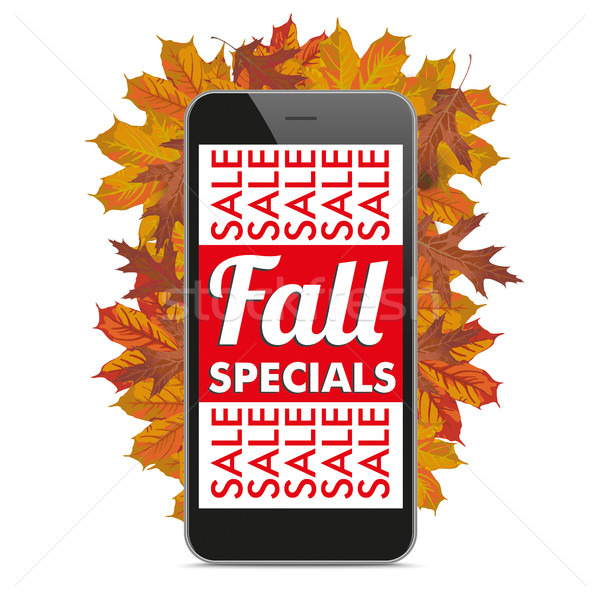 Black Smartphone Autumn Fall Specials Stock photo © limbi007