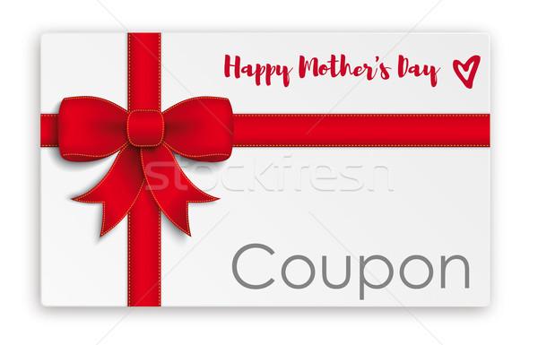 Coupon Karte Mothers Day Stock photo © limbi007
