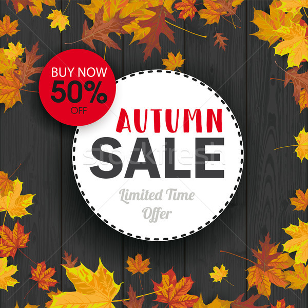 Autumn Foliage Black Wood Autumn Sale Circles Stock photo © limbi007