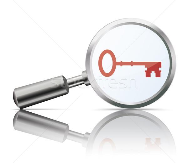 Ayna anahtar kırmızı beyaz eps Stok fotoğraf © limbi007