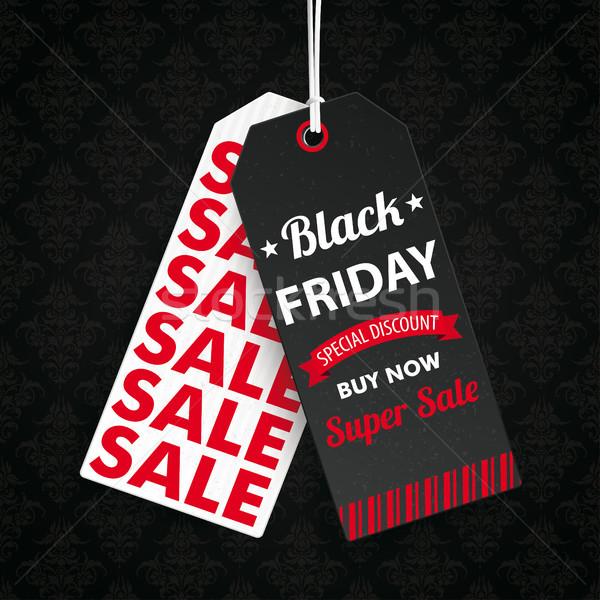 Two Long Price Stickers Black Friday Wallpaper Ornaments Stock photo © limbi007