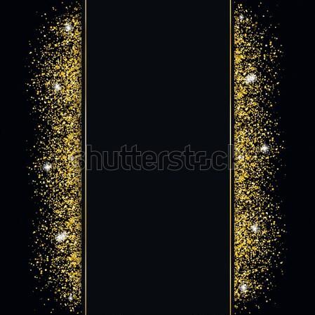 Golden Sand Black Cover Centre Banner Stock photo © limbi007