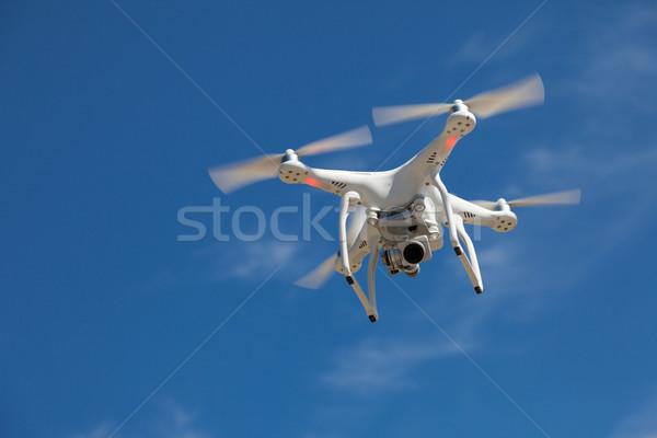 Drone Blue Sky Stock photo © limbi007