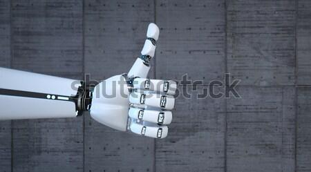 пальца робота конкретные 3d иллюстрации компьютер машина Сток-фото © limbi007