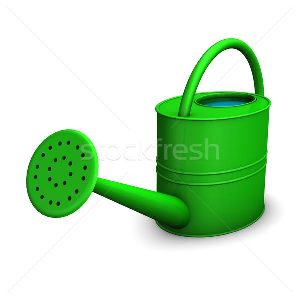 Regadera verde blanco jardín fondo planta Foto stock © limbi007