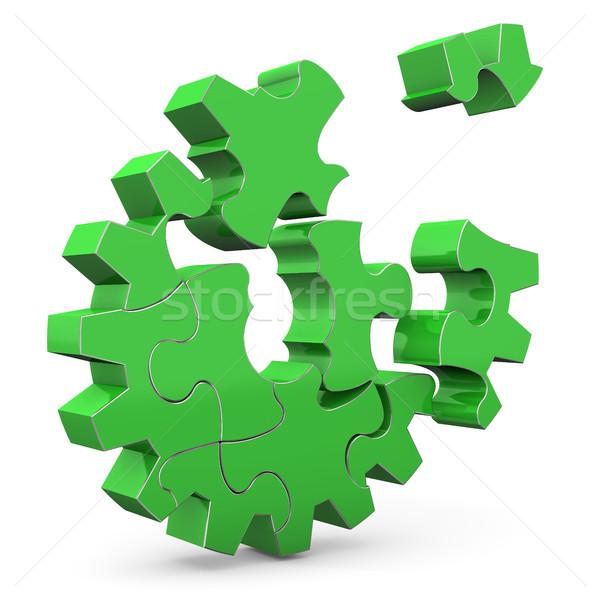 Green Gear Stock photo © limbi007