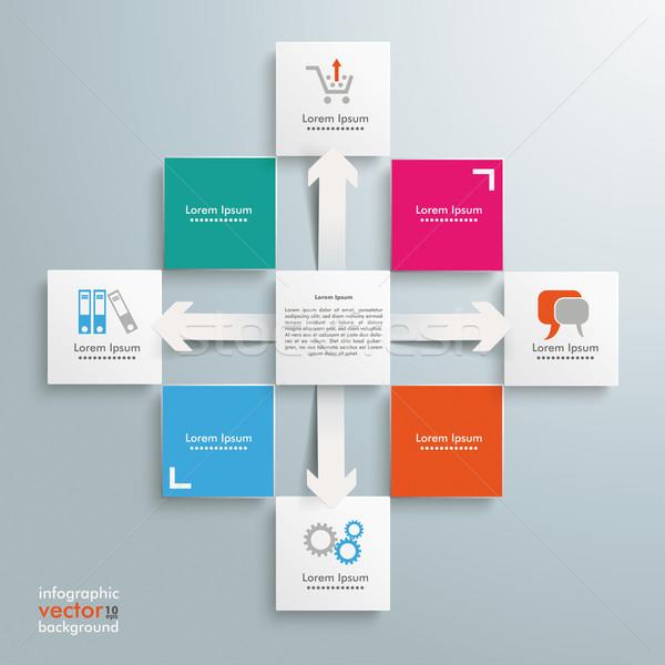 Stock photo: Square Design Cross Arrows