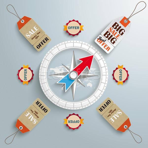 Stock photo: Compass Price Stickers