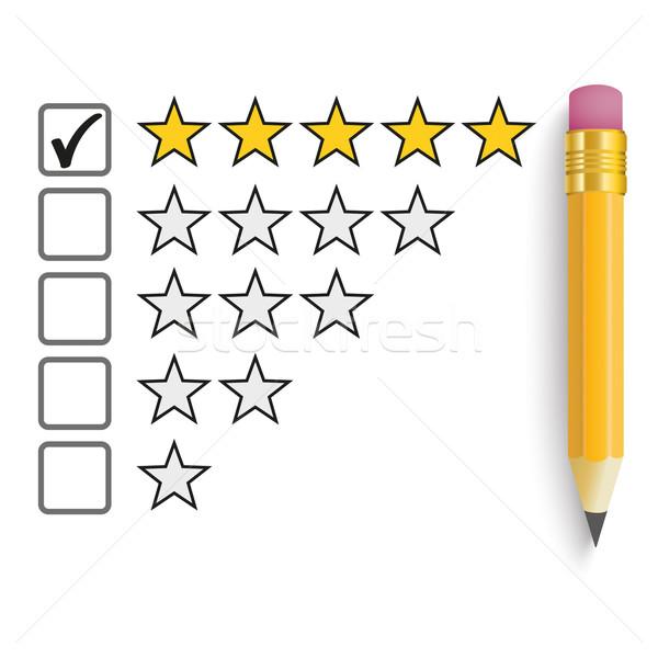 Pencil 5 Stars Rating Stock photo © limbi007