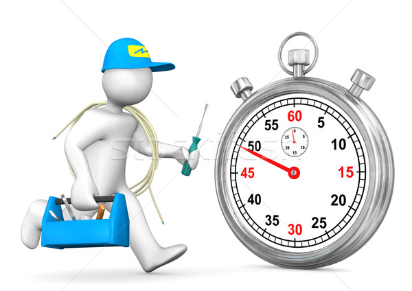Electrician Stopwatch Stock photo © limbi007