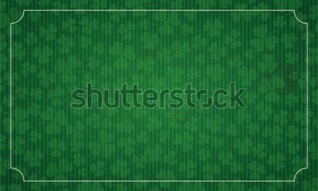 Long Vintage Background Shamrocks St Patricks Day  Stock photo © limbi007