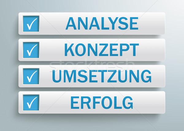 Tekst analiza realizacja sukces eps Zdjęcia stock © limbi007