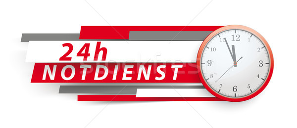 24 h Notdienst Clock Colorful Paper Lines Header Stock photo © limbi007