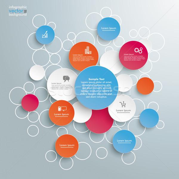 Colored Bubble Circles Infographic Stock photo © limbi007