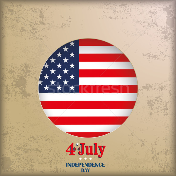 Vintage Background 4th July US Flag Stock photo © limbi007