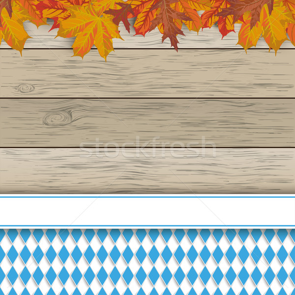 Bavarian National Colors Flyer Foliage Stock photo © limbi007