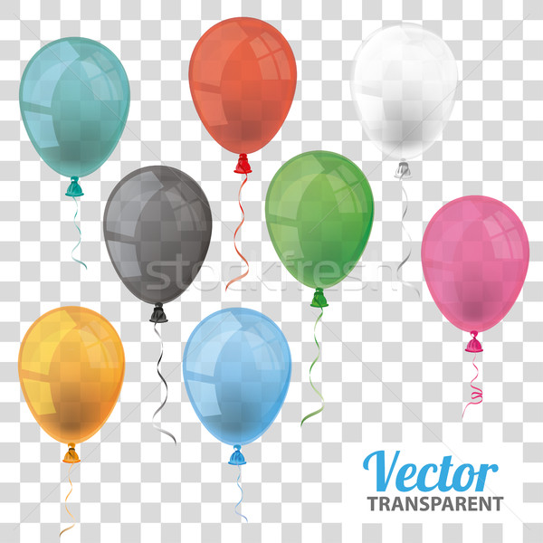 Foto stock: Transparente · balões · conjunto · eps · 10