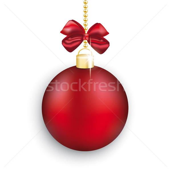 Foto d'archivio: Rosso · Natale · gingillo · bianco · nastro