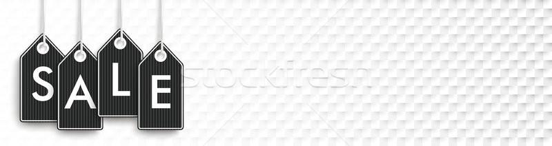 Black Shopmarks Sale Checked Background Stock photo © limbi007