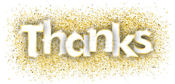 Thanks Golden Confetti Stock photo © limbi007