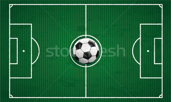 Clássico futebol tática terreno verde cobrir Foto stock © limbi007