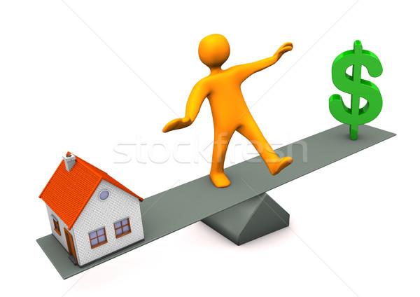 House Dollar Balance Stock photo © limbi007