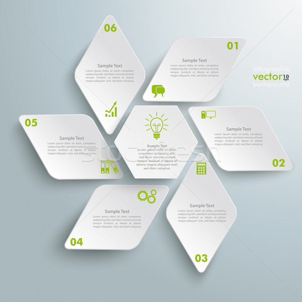 Rhombus Star Infographic Stock photo © limbi007