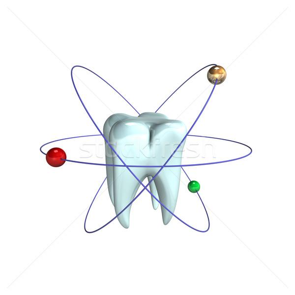 Atomique dents 3d illustration design résumé Photo stock © limbi007