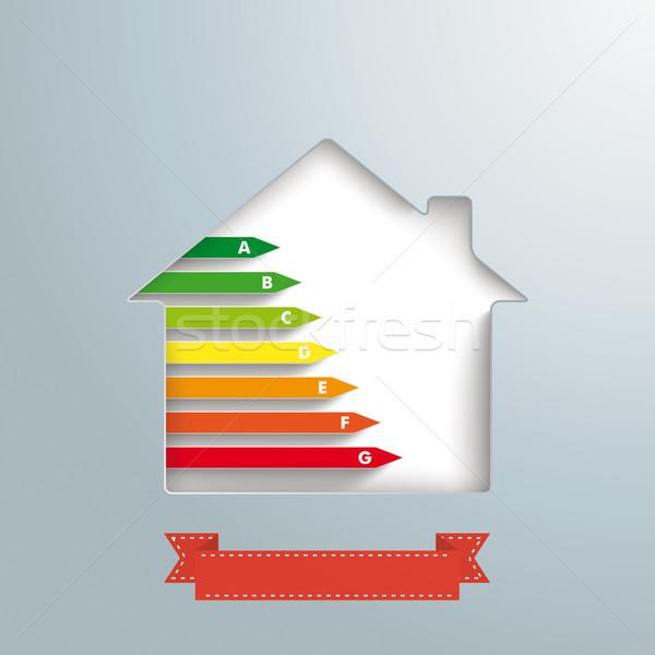 Ház lyuk ezüst energia passz szalag Stock fotó © limbi007