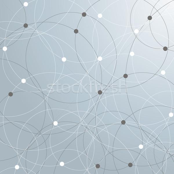 Abstract netwerken cirkels eps 10 vector Stockfoto © limbi007