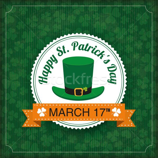 St. Patricks Day Vintage Cover Big Emblem Stock photo © limbi007