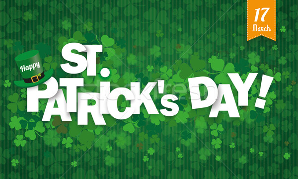 Long Background Hat Shamrocks Ribbon Happy St Patricks Day Stock photo © limbi007