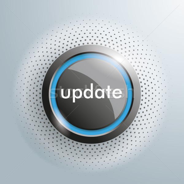 Mettre à jour bouton en demi-teinte gris eps 10 Photo stock © limbi007