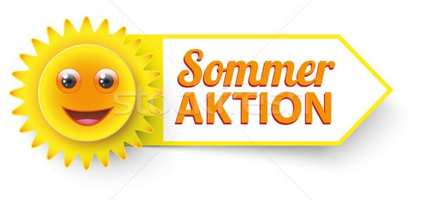 Funny Sun Sommer Aktion Stock photo © limbi007