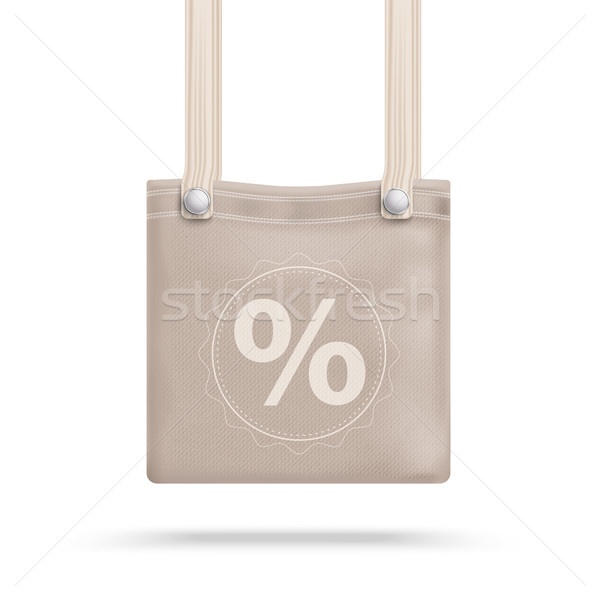 коричневый кошелька сумку процент белый прибыль на акцию Сток-фото © limbi007