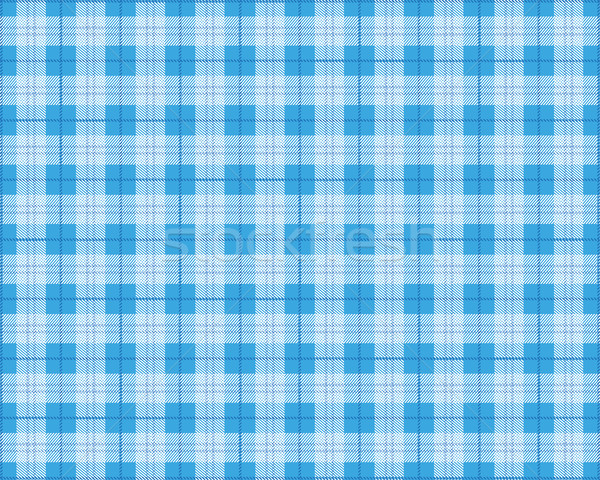 Azul toalha de piquenique eps 10 vetor arquivo Foto stock © limbi007