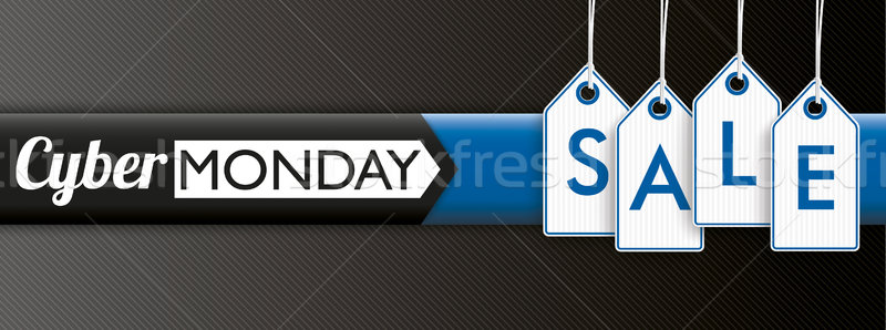 Hanging Price Stickers Cyber Monday Sale Header Stock photo © limbi007