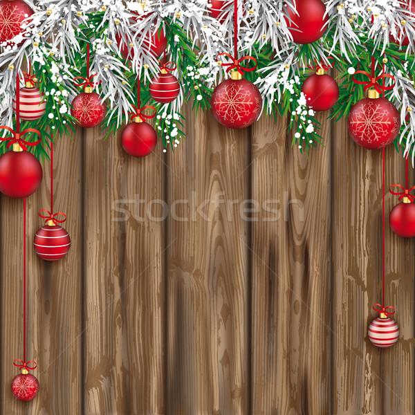 Natale congelato verde rosso Foto d'archivio © limbi007
