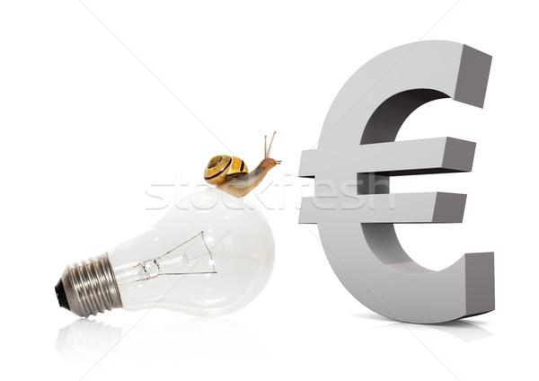 Snail On Bulb Euro Stock photo © limbi007