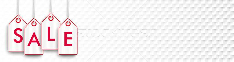 Red Shopmarks Sale Checked Background Stock photo © limbi007