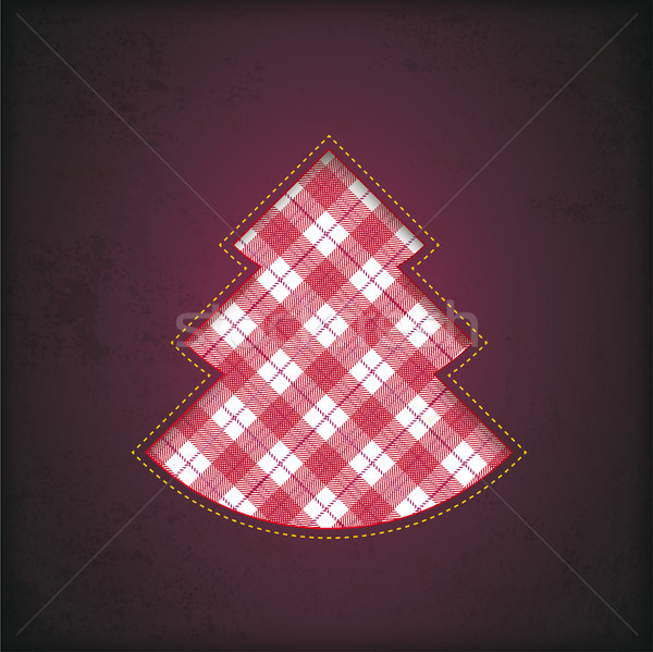 Christmas Tree Hole Checked Cloth Tartan Stock photo © limbi007