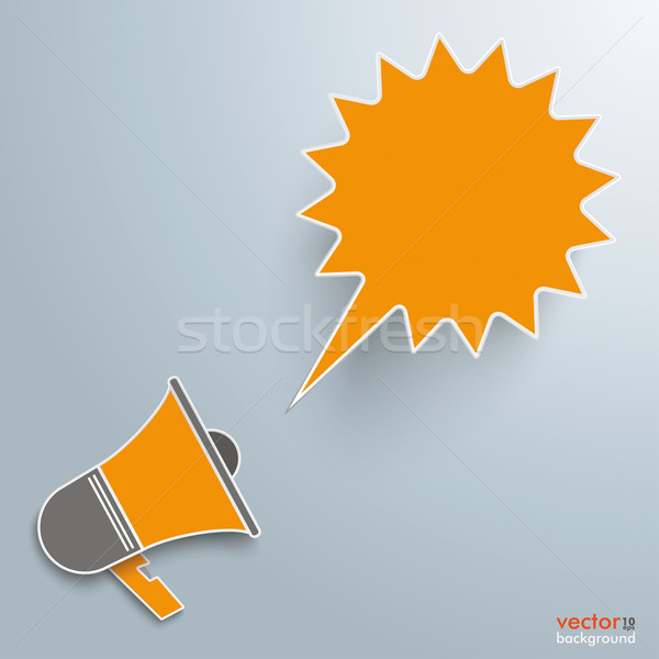 Bullhorn Shout Bubble Stock photo © limbi007