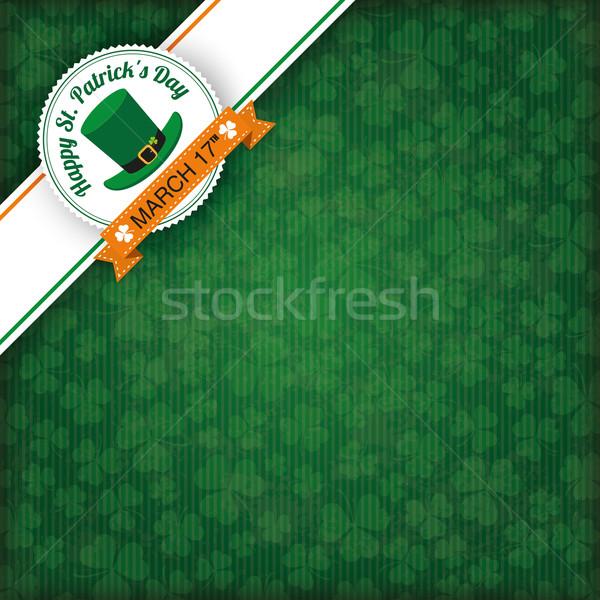 St. Patricks Day Vintage Edge Banner Emblem Stock photo © limbi007