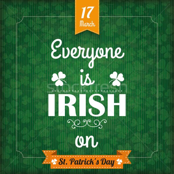 St Patricks Day Vintage Cover Everyone Irish Stock photo © limbi007