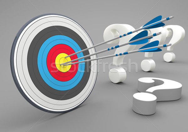 Target Arrow Questions Stock photo © limbi007