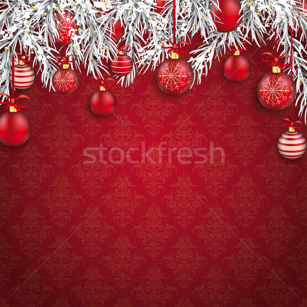 Christmas Ornaments Baubles Twigs  Stock photo © limbi007