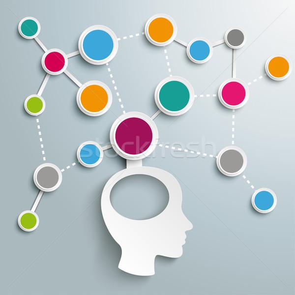 человека голову мозг сеть дизайна Сток-фото © limbi007